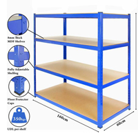 Insertion boltless shelving rack